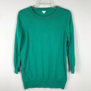 J Crew Emerald Green Light Weight Sweater